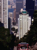 Funicular and Central Buildings  Victoria Peak  Hong Kong Island  Hong Kong  China