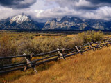 Fencing in the Grand Teton National Park  Grand Teton National Park  Wyoming  USA