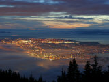 City from Grouse Mountain at Sunset  North Vancouver  Vancouver  Canada