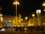 Ban Jelacic Square at Night  Zagreb  Croatia