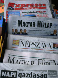 Selection of Hungarian Newspapers  Budapest  Hungary