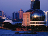 International Convention Centre at Night  Shanghai  China