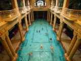 Swimmers in Gellert Thermal Baths in Budapest  Hungary