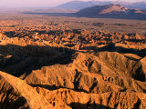Late Afternoon Light Over Borrego Badlands  Anza-Borrego Desert State Park  California  USA