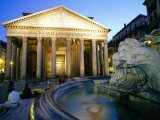 Pantheon at Dusk  Rome  Lazio  Italy