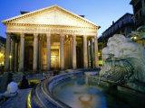 Pantheon at Dusk  Rome  Lazio  Italy