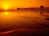 Oceanside Pier at Sunset  North County  San Diego  United States of America