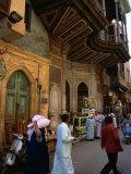 Street in Great Bazaar Khan Al-Khalil  Cairo  Egypt