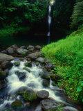 Water Streaming Over Rocks at Olemoe Waterfall  Olemoe Falls  Samoa
