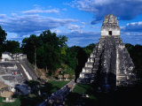 Temple of the Grand Jaguar on the Great Plaza  Tikal  Guatemala