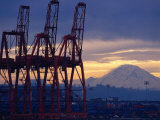 Elliot Bay Industrial Waterfront  Seattle  Washington  USA