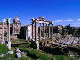 Roman Forum Ruins  Rome  Lazio  Italy