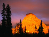 Sunrise on Sinopah Mountain at Two Medicine Lake - Glacier National Park  Montana  USA