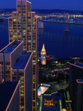Embarcadero Area at Night  San Francisco  California  USA