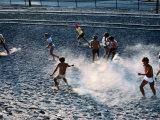 Children Playing Soccer Game in Street  Antofagasta  Chile