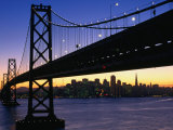 Skyline and Bay Bridge from Treasure Island  San Francisco  California  USA