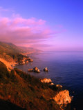 Sunset on the Big Sur Coastline  California  USA