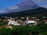 Pico Volcano Above Village on South Coast  Portugal