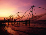 Traditional Fishing Nets at Sunset  Kochi  Kerala  India