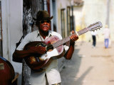 Guitar-Playing Troubador  Trinidad  Sancti Spiritus  Cuba