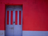 Brightly Painted House Facade in Suchitoto Suchitoto Cuscatlan  El Salvador