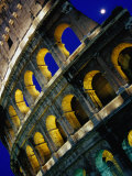 The Colosseum Lit Up at Night  Rome  Lazio  Italy