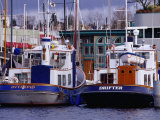 Lake Union Boats at Dock  Seattle  Washington  USA