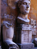 Bust of Constantine the Great (Also Known as Constantine the 1St) in Museum Capitoline  Rome  Italy