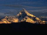 Mt Machupuchare in the Annapurnas Range  Nepal