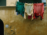 Washing Drying on the Island of Procida in the Bay of Naples  Procida  Campania  Italy