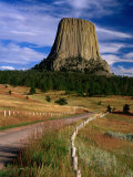 Road Leading to Devil's Tower National Monument  Wyoming  USA