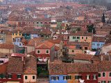 Burano Rooftops from the Belltower  Venice  Burano  Veneto  Italy