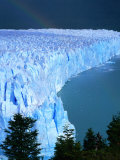 Overhead of Perito Moreno Glacier with Rainbow  Los Glaciares National Park  Argentina