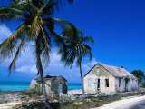 Buildings from an Old Settlement on the Shore  Cat Island  Bahamas