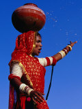 Performer Dancing with Water Pot at Holi Festivities  Jaipur  India