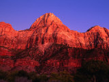 Sunset Over the Watchman  Zion National Park  USA