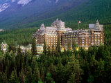 Banff Springs Hotel  Dusk  Banff National Park  Canada