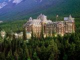 Banff Springs Hotel  Dusk  Banff National Park  Canada
