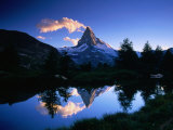 Reflection of the Matterhorn in Waters of Grindjisee  Switzerland
