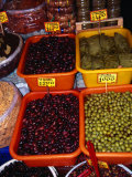 Olives and Stuffed Vine Leaves in Stall on 1866 Street  Iraklio  Greece
