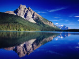 Reflection of Wapta Mountain on Emerald Lake  Yoho National Park  Canada