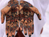Person Displaying Henna Hand Tattoos  Djibouti  Djibouti