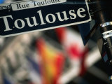 Toulouse Street Sign New Orleans  Louisiana  USA