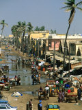 People Going About Their Business in Street  St Louis  Senegal