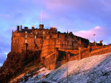 Edinburgh Castle Seen from Johnston Terrace  Edinburgh  United Kingdom