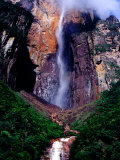 Angel Falls Seen from Mirador Laime Lookout  Angel Falls  Venezuela