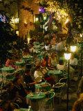 Outdoor Dining Sicilian Style  Taormina  Sicily  Italy