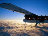 Twin-Otter Aircraft on Snow  Antarctic Plateau  Antarctica