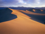 Sun and Shadows Outline Sand Dunes Near Stovepipe Wells  Death Valley National Park  California
