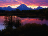 Sunset Over Snake River  Oxbow Bend  Grand Teton National Park  USA
